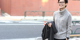 Ladies STYLE   ~CABLE TURTLE NECK~