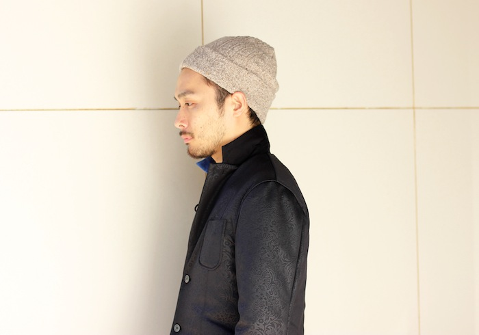 ×CABLE KNIT CAP(BEIGE)