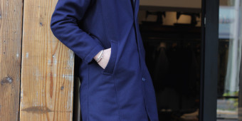 ×SINGLE TRENCH COAT(NAVY)