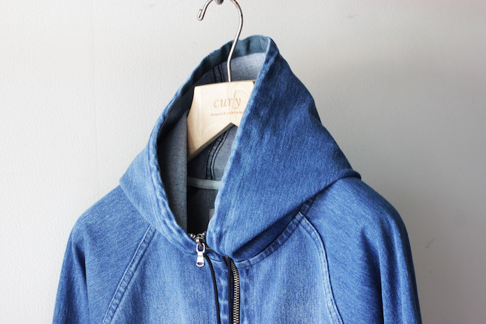 MAZARINE ZIP HOODY (ANTIQUE INDIGO)