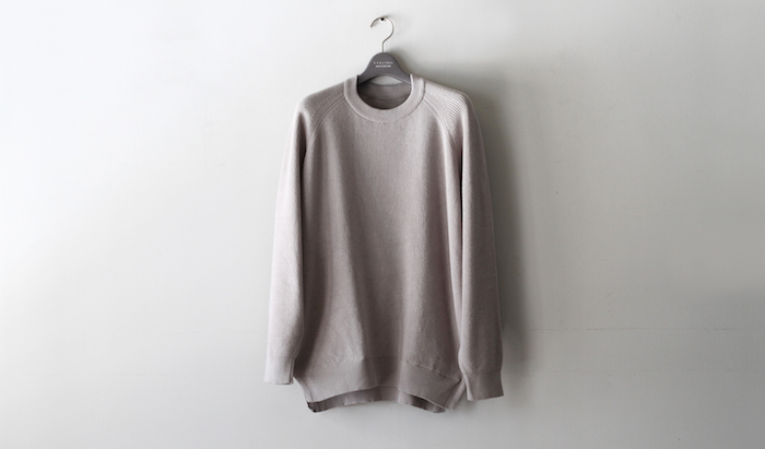 ASSEMBLY CREW KNIT -LT.GRAY-