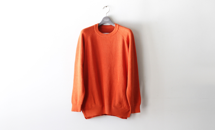 ASSEMBLY CREW KNIT -ORANGE-