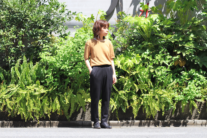 BRACE WIDE TROUSERS × CLOUDY HS CREW TEE