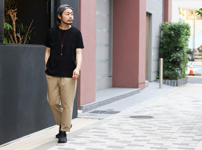 ADVANCE WIDE TROUSERS × AZTEC JAQ DS TEE