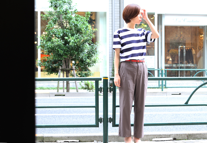 ADVANCE SS BORDER TEE &  ADVANCE WIDE TROUSERS